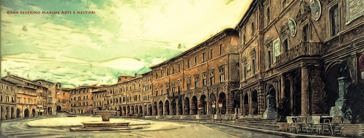 Piazza del Popolo San Severino Marche